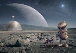 robot with robot dog